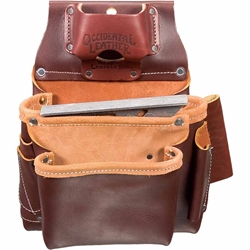 5061 2 Pouch Pro Fastener Bag  occidental leather, tool belt, leather tool belts, toolbelts, tool belt
